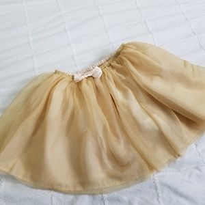 H&M Girls Size 7-8 Gold Tutu Skirt
